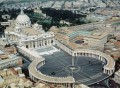 St Peter's Square at Vatican city with the Obelisk at the center