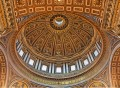 St Peter's Basilica in Vatican City , Interior, Dome